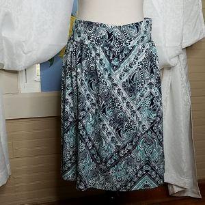 Lane Bryant Paisley Floral Skirt